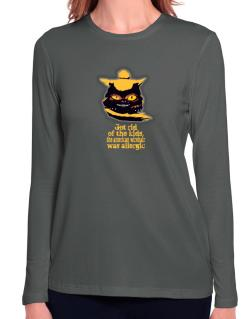 Got Rid Of The Kids, The American Wirehair Was Allergic Long Sleeve T-Shirt-Womens