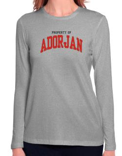 Property Of Adorjan Long Sleeve T-Shirt-Womens