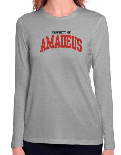 Property Of Amadeus Long Sleeve T-Shirt-Womens