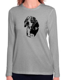 Beagle Face Special Graphic Long Sleeve T-Shirt-Womens
