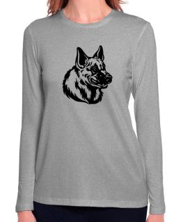 """ Belgian Malinois FACE SPECIAL GRAPHIC "" Long Sleeve T-Shirt-Womens"