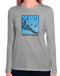 Ambient House - Musical Notes Long Sleeve T-Shirt-Womens