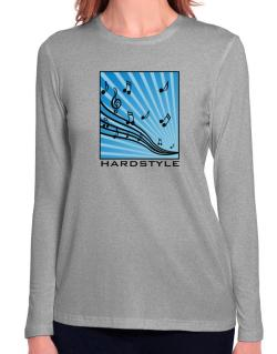 Hardstyle - Musical Notes Long Sleeve T-Shirt-Womens