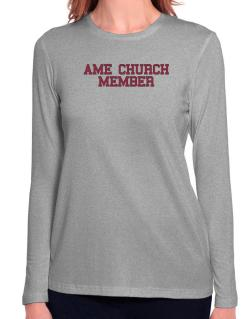 Ame Church Member - Simple Athletic Long Sleeve T-Shirt-Womens