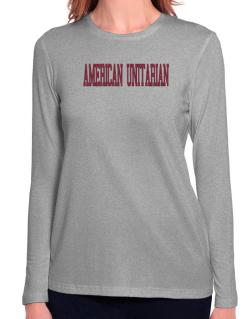 American Unitarian - Simple Athletic Long Sleeve T-Shirt-Womens