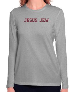 Jesus Jew - Simple Athletic Long Sleeve T-Shirt-Womens