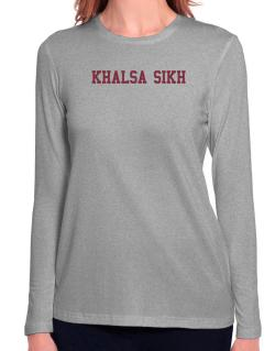 Khalsa Sikh - Simple Athletic Long Sleeve T-Shirt-Womens