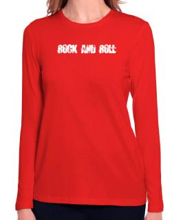 Rock And Roll - Simple Long Sleeve T-Shirt-Womens