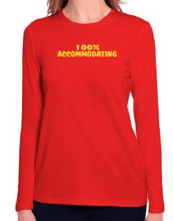 100% Accommodating Long Sleeve T-Shirt-Womens