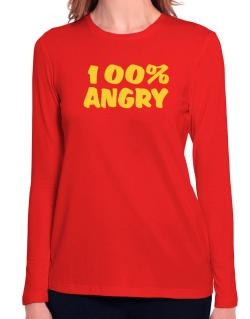 100% Angry Long Sleeve T-Shirt-Womens