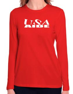 Usa Aide Long Sleeve T-Shirt-Womens