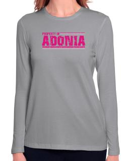 Property Of Adonia - Vintage Long Sleeve T-Shirt-Womens