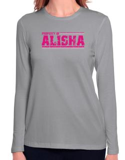 Property Of Alisha - Vintage Long Sleeve T-Shirt-Womens