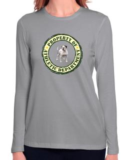 """ PROPERTY OF American Bulldog ATHLETIC DEPARTMENT TRANSFER "" Long Sleeve T-Shirt-Womens"