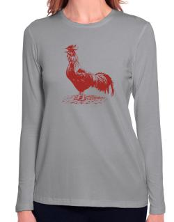 Rooster Long Sleeve T-Shirt-Womens