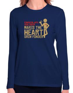Chocolate Soldier Makes The Heart Grow Fonder Long Sleeve T-Shirt-Womens