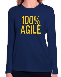 100% Agile Long Sleeve T-Shirt-Womens