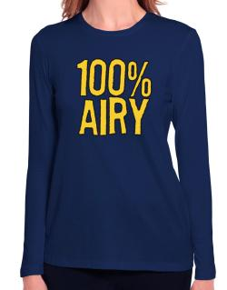 100% Airy Long Sleeve T-Shirt-Womens