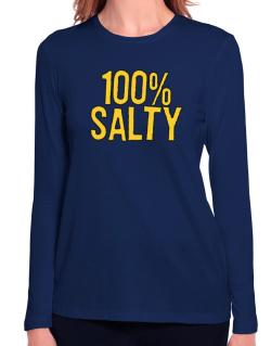 100% Salty Long Sleeve T-Shirt-Womens