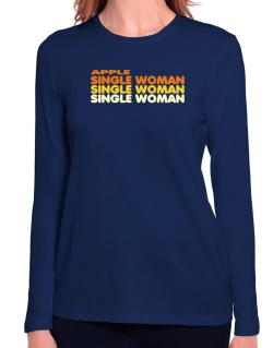 Apple Single Woman Long Sleeve T-Shirt-Womens