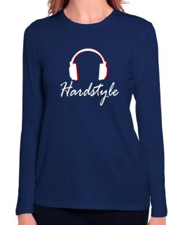 Hardstyle - Headphones Long Sleeve T-Shirt-Womens