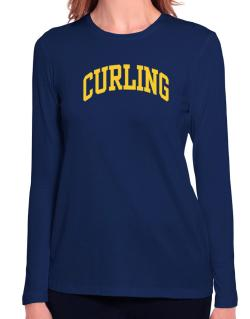 Curling Athletic Dept Long Sleeve T-Shirt-Womens