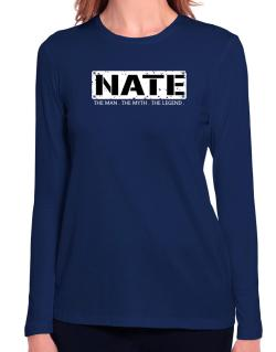 Nate : The Man - The Myth - The Legend Long Sleeve T-Shirt-Womens