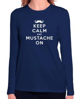 Mustache on Long Sleeve T-Shirt-Womens