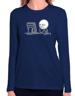 Computer guy Long Sleeve T-Shirt-Womens