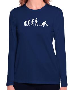 Curling Evolution Long Sleeve T-Shirt-Womens