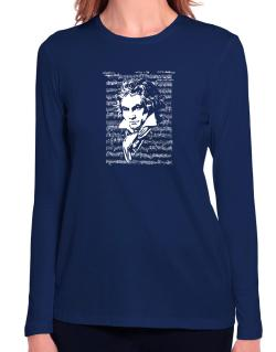 Beethoven symphony Long Sleeve T-Shirt-Womens