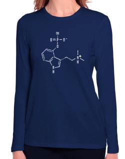 Psilocybin Chemical Formula Long Sleeve T-Shirt-Womens