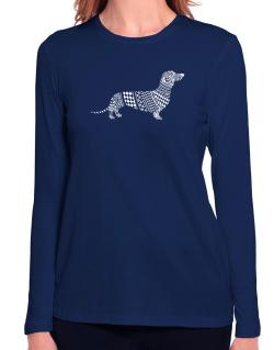Dachshund Artistic Long Sleeve T-Shirt-Womens