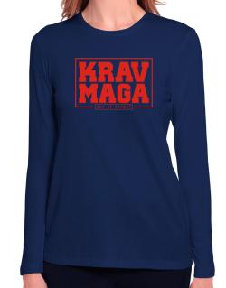 Krav maga art of combat Long Sleeve T-Shirt-Womens