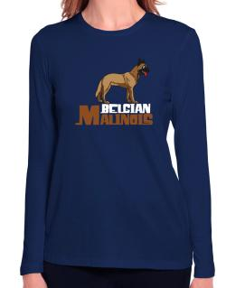 Belgian malinois cute dog Long Sleeve T-Shirt-Womens