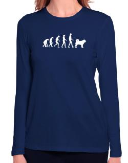 Wetterhoun evolution Long Sleeve T-Shirt-Womens