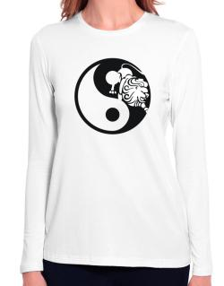Yin Yang Leo Long Sleeve T-Shirt-Womens