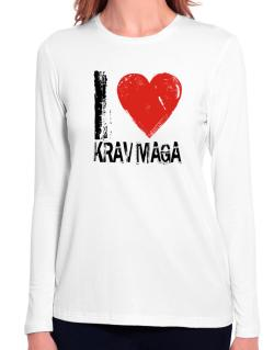 I Love Krav Maga Long Sleeve T-Shirt-Womens