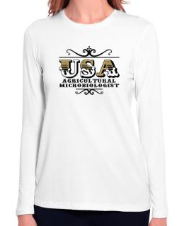 Usa Agricultural Microbiologist Long Sleeve T-Shirt-Womens