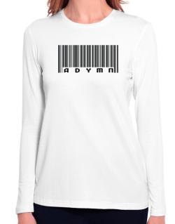 Bar Code Adymn Long Sleeve T-Shirt-Womens