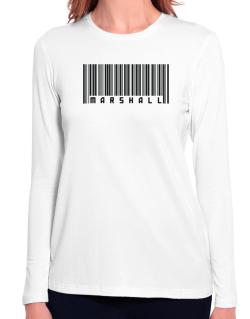 Bar Code Marshall Long Sleeve T-Shirt-Womens