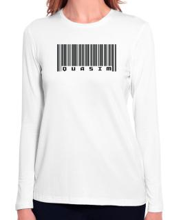 Bar Code Quasim Long Sleeve T-Shirt-Womens