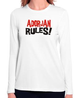 Adorjan Rules! Long Sleeve T-Shirt-Womens