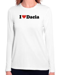 I Love Dacia Long Sleeve T-Shirt-Womens