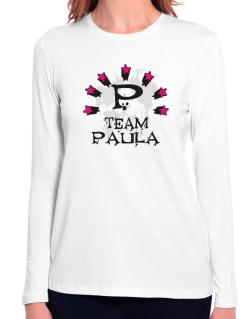 Team Paula - Initial Long Sleeve T-Shirt-Womens
