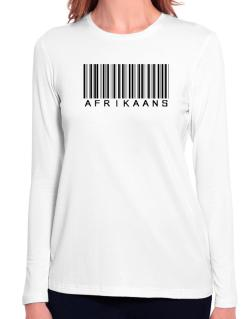 Afrikaans Barcode Long Sleeve T-Shirt-Womens