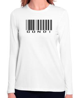 Gondi Barcode Long Sleeve T-Shirt-Womens