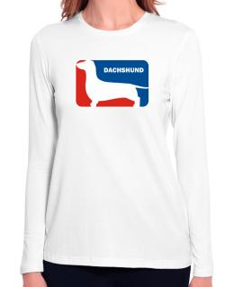 Dachshund Sports Logo Long Sleeve T-Shirt-Womens