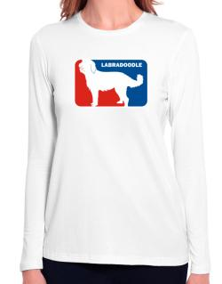 Labradoodle Sports Logo Long Sleeve T-Shirt-Womens
