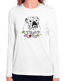 American Bulldog True Love Long Sleeve T-Shirt-Womens